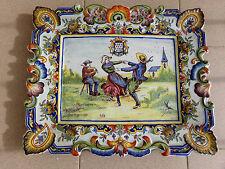 """Plat en Faïence de Bretagne Lammilis """"A ma vie"""" Plate in Brittany Earthenware"""