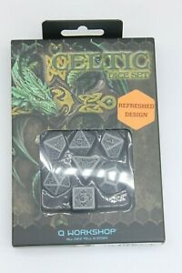 Q-workshop QWOCER12 Celtic 3d Dice Gray/black 7 Game Accessory