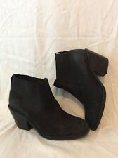 H&M Black Ankle Leather Boots Size 39