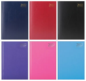 A5 Day A Page 2022 Desk Diary Hard Back Planner Calendar Organiser Home Office