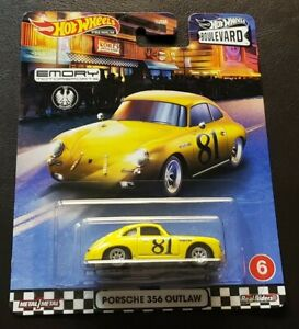 Hot Wheels Boulevard Porsche 356 Outlaw with Real Riders