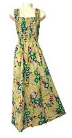 GR 100% Cotton Long Boho Maxi Dress Party Evening Size 14 16 18 20 22 24