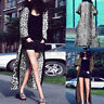 ZANZEA Womens Leopard Printed Long Sleeve Maxi Coat Tops Shirts Blouse Cardigan