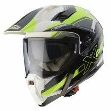 New - Caberg X-Trace Spark Motorcycle Dual Sport Helmet - White/Anthracite/Fluo