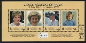 BIOT Diana Princess of Wales Commemoration MS 1998 MNH SG#MS214 BELOW FACE VALUE