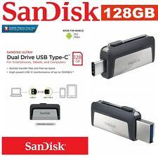 Type C USB SanDisk 128GB OTG Dual USB 3.1 Flash Drive Stick PC Thumb Mac Samsung