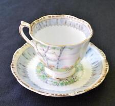 Vintage ROYAL ALBERT Bone China England SILVER BIRCH Set Cup &Saucer