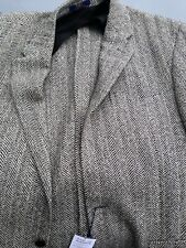 Ralph Lauren Polo Blazer Jacket Tweed Designer Wool 44 R Grey