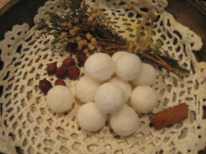 Primitive Handmade* Anise Scented* Snowball Tarts/Embeds*