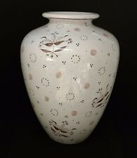 Karlsruhe mid century 9 inch Vase with Craquelle finish floral pattern 5779