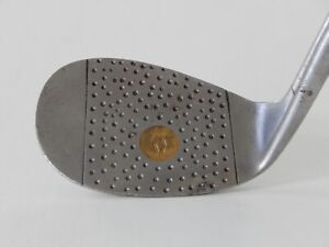 VINTAGE H & B BURR KEY BILT #8 Niblick Golf Club Fancy Face Iron - 1930's