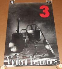 Violent Femmes 3 Poster Original 1989 Promo 34x23
