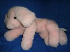 """Kindergund Pink Puppy Plush Kinger 1985 gund baby rattle 12"""" long"""