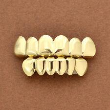 1 Set Gold Plated Hip Hop Teeth Grillz Top & Bottom Grill Teeth Grills Fashion