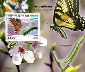 Niger Butterflies Stamps 2020 MNH Peacock Swallowtail Butterfly Insects 1v S/S