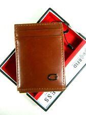 Guess Men's Front Pocket Wallet Magnetic Money Clip RFID Block Tan 31GO160011