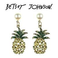 Betsey Johnson Crystal Multi Color Pineapple Earrings US Seller