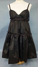NWT MARC BOUWER GLAMIT! Bronze BEADED Baby Doll Dress GOWN Size 6 MSRP $550