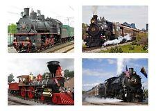 4 Steam Train Locomotive / Trains 5 x 7 GLOSSY * 4 Photo Picture LOT
