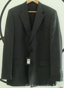 """New Mens Jaeger Wool Pinstripe Suit Jacket 40R Grey Lilac Stripe 40"""" RRP £300"""