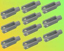 10 x Gabelkopf 8x32 DIN 71752 - M8 - verzinkt - OHNE Zubehör - Gabelgelenk