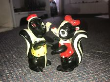 Vintage Artmark Hugger Skunk Salt & Pepper Shakers Japan