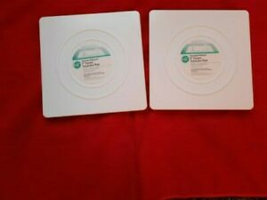 """8"""" square cake separator plate set of two"""