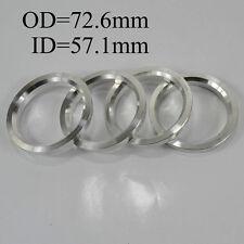 Wheel Hub Variable Centric Hole Rings Spacer OD=72.6mm ID=57.1mm Aluminium Alloy