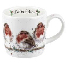 Royal Worcester Wrendale Designs Rockin' Robins Christmas Coffee Mug Cup 300ml