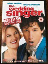 Adam Sandler Drew Barrymore THE WEDDING SINGER ~ 1998 Romcom Extended UK DVD