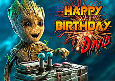 guardians of the galaxy 2 baby groot spoof Personalised Happy Birthday Art Card
