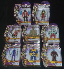 GUARDIANS OF THE GALAXY Animated Set of 8 Marvel Action Figures w THANOS MIP
