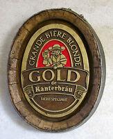 GOLD de KANTERBRAU, enseigne publicitaire, bière, pas émaillée, TROMPE L'OEIL .