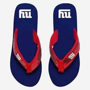 New York Giants NFL Women's Sequin Flip Flops Size XL (11/12) - NWT