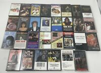 70's & 80's Lot of 30 Vintage Cassette Tapes Classic Rock Pop Disco Hits- RARE!
