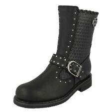 Calzado de mujer Botas de caña alta de color principal negro de piel