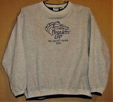 BREEDERS CUP 2001 HORSE RACING PULLOVER SWEATSHIRT PLUS 8 CAPS PACKAGE