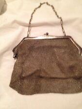 Alpacca Silver Handmade Mesh Purse Handbag 1920's? Earlier?