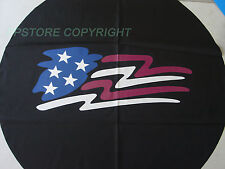 SPARE TIRE COVER 225/75R15 imaged w/ American Flag PB2528F5