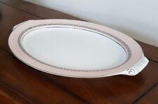 Narumi Fine China Pink Scroll Large Serving Platter
