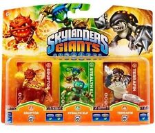 Skylanders Giants ERUPTOR STEALTH ELF TERRAFIN NISB Tripe Pack Rare! Swap Force