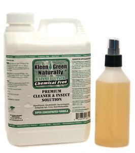 Kleen Green 64oz Concentrate+8oz Spray treat scabies, biting mites & bird mites