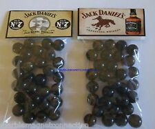 2 BAGS OF JACK DANIELS OLD # 7 TENNESSEE WHISKEY ADVERTISING PROMO MARBLES