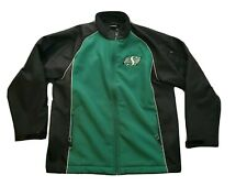 Saskatchewan Roughriders CFL Canadian Football League Jacket L mens green black