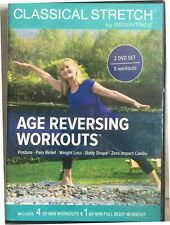 NEW Classical Stretch Essentrics Age Reversing Workouts 2-DVDs Miranda Esmonde