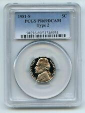 1981 S 5C Type 2 T2 Jefferson Nickel Proof PCGS PR69DCAM