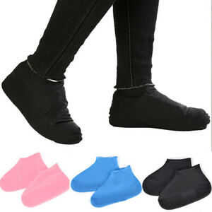 1pair Reusable Rain Shoe Covers Waterproof Overshoes Anti-slip Rain Boot Covers