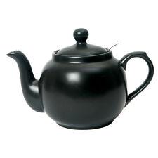 London Pottery Matt Black Traditional 2 Cup Farmhouse Filter Teapot Tea Pot New