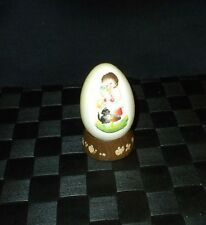 Lot/4 Anri Ferrandie Painted Boy & Bugle Egg & Stand & 3 Egg Ornaments