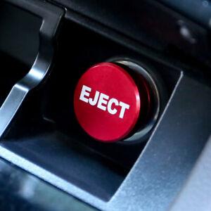Aluminum Car Cigarette Lighter Button EJECT Button Cover 12V Power Decoration